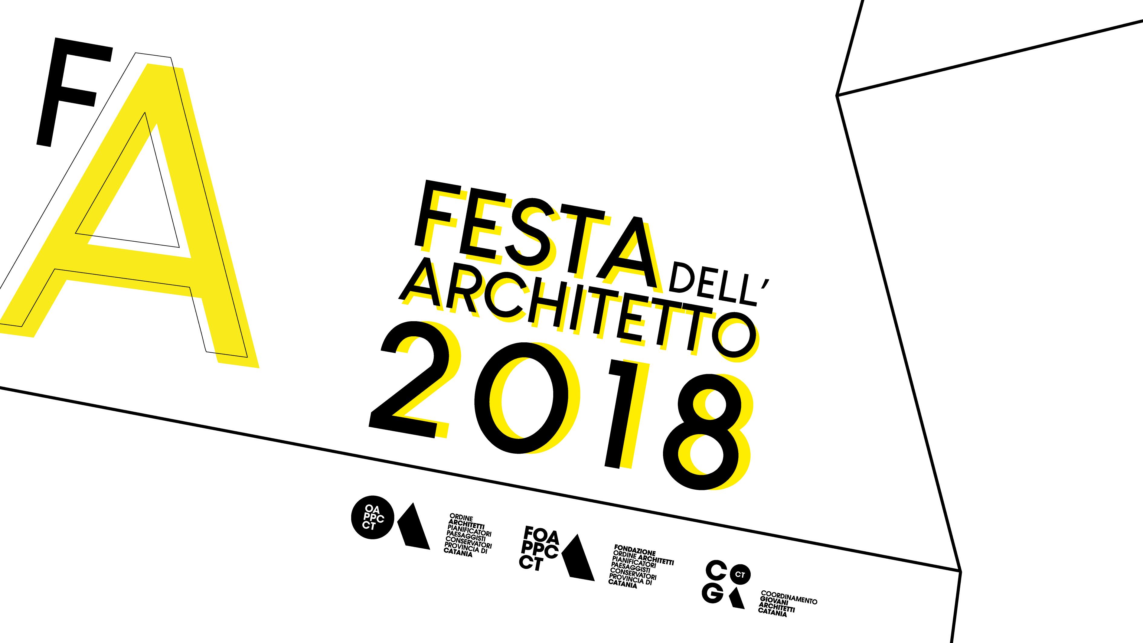 locandina Festa dell'Architetto 2018 Catania 22-24 giugno
