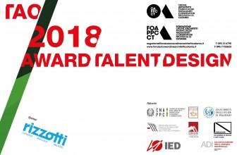 """""""TAO AWARD TALENT DESIGN 2018"""": PUBBLICATO BANDO DI CONCORSO"""