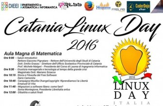 "SOFTWARE LIBERO, SABATO A CATANIA ""LINUX DAY 2016"""