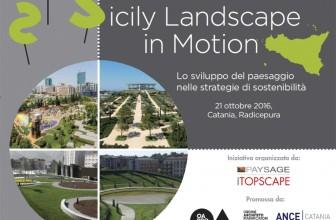 """ARCHITETTURA DEL PAESAGGIO, DOMANI """"SICILY LANDSCAPE IN MOTION"""""""
