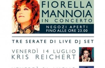 ESTATE 2017: FIORELLA MANNOIA    E TRE DJ SET SUL PALCO DI SICILIA OUTLET VILLAGE
