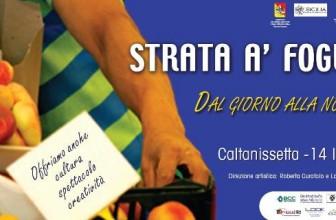 CALTANISSETTA, FESTA ALLA STRATA 'A FOGLIA