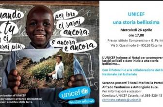 I NOTAI DI CATANIA AL FIANCO DI UNICEF PER I LASCITI SOLIDALI