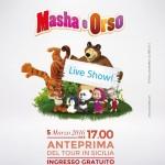 Cartolina Masha e Orso Live Show_fronte